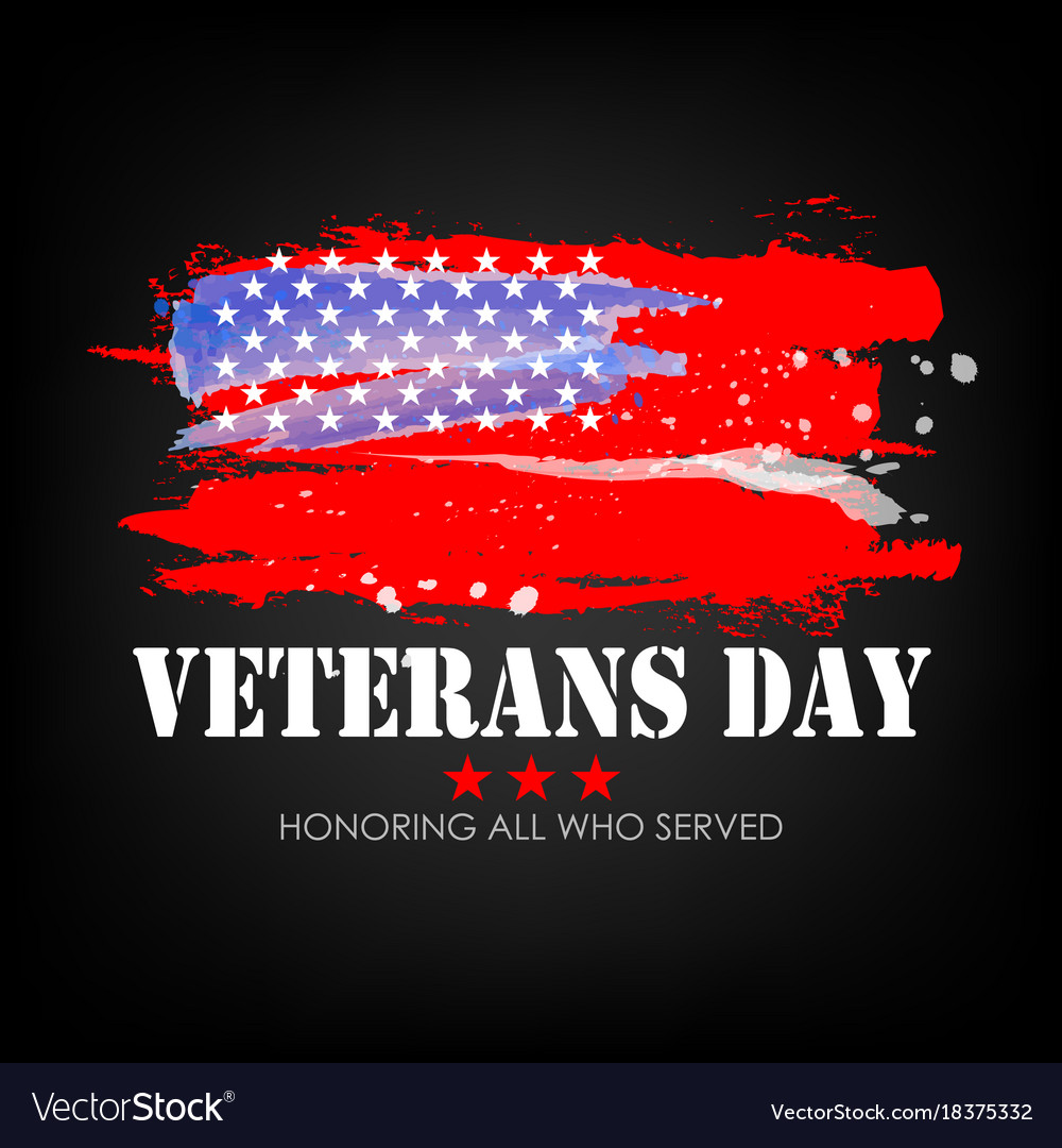 Veterans day with usa flag background
