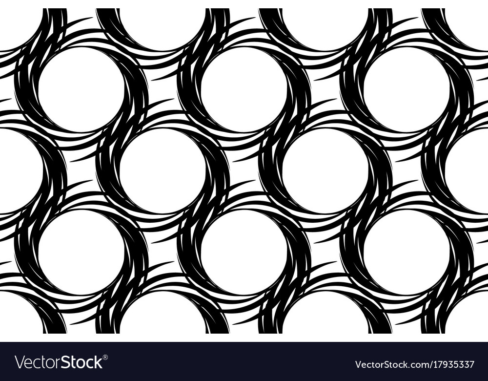Abstract seamless pattern of circular items with