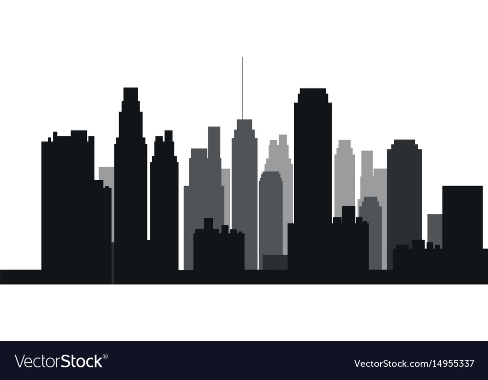 buildings silhouette urban landscape american vector image rh vectorstock com vector buildings vectra building services streatham high road