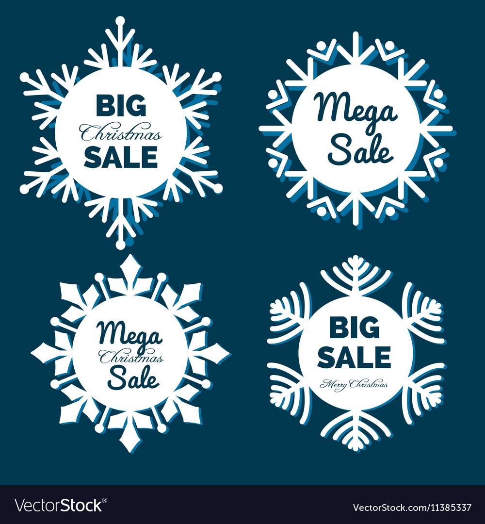 Christmas snowflakes sale banners
