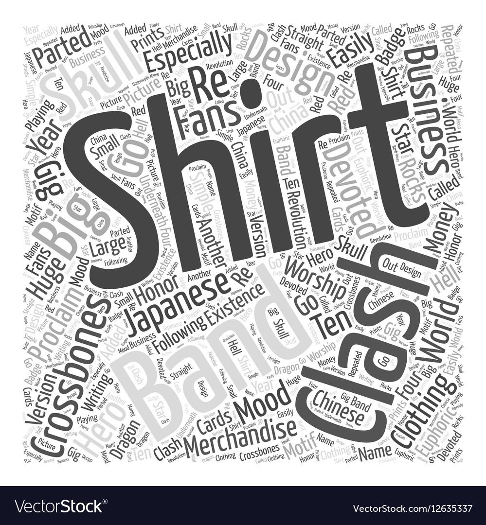 Clash t shirt Word Cloud Concept