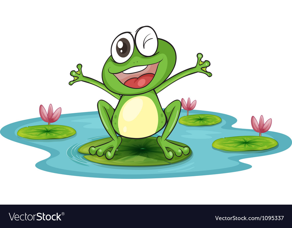 Happy cartoon frog vector art download vectors 1095337 for Frog agency