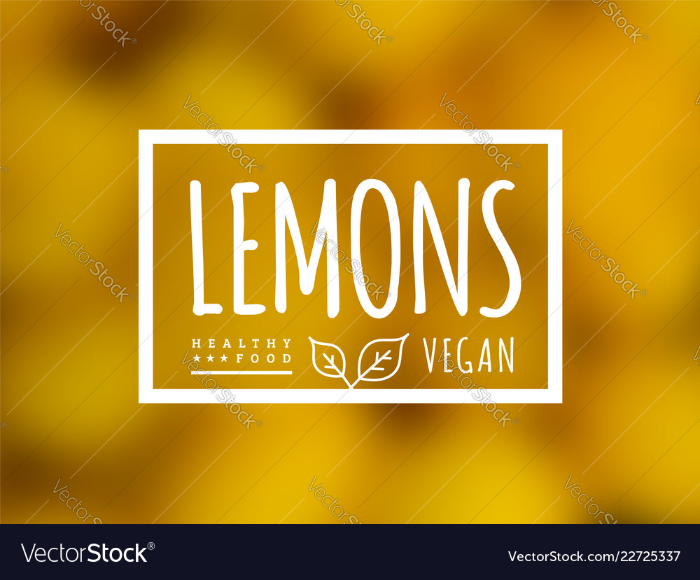 Lemon background and label on it environmentally