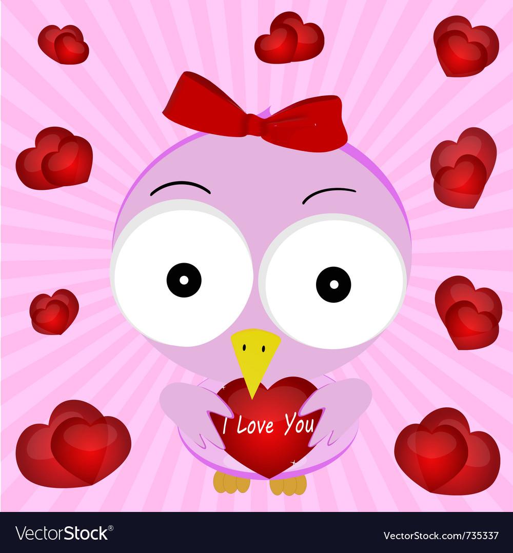 Love bird vector image