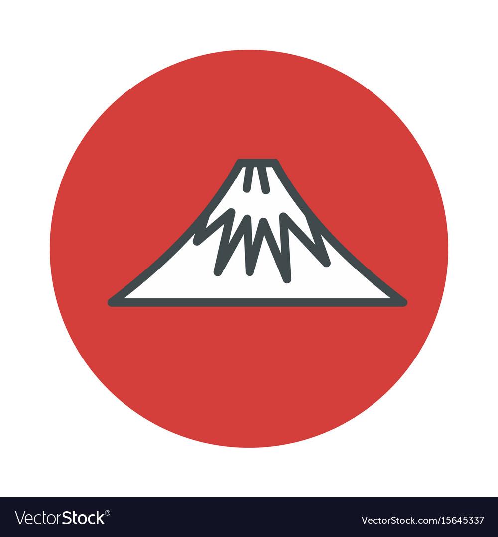 Mountain volcano fuji icon isolated on white