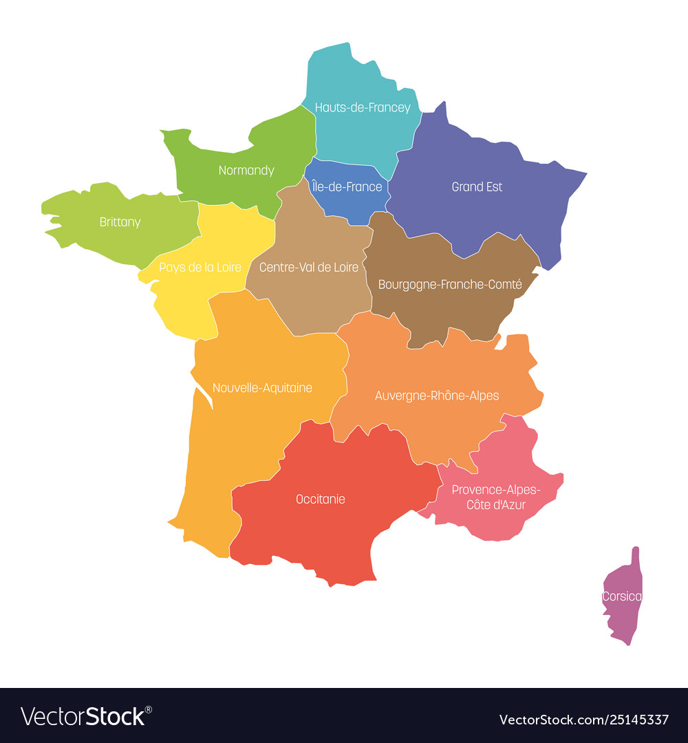 Map Of Regions France.Regions France Map Regional Country