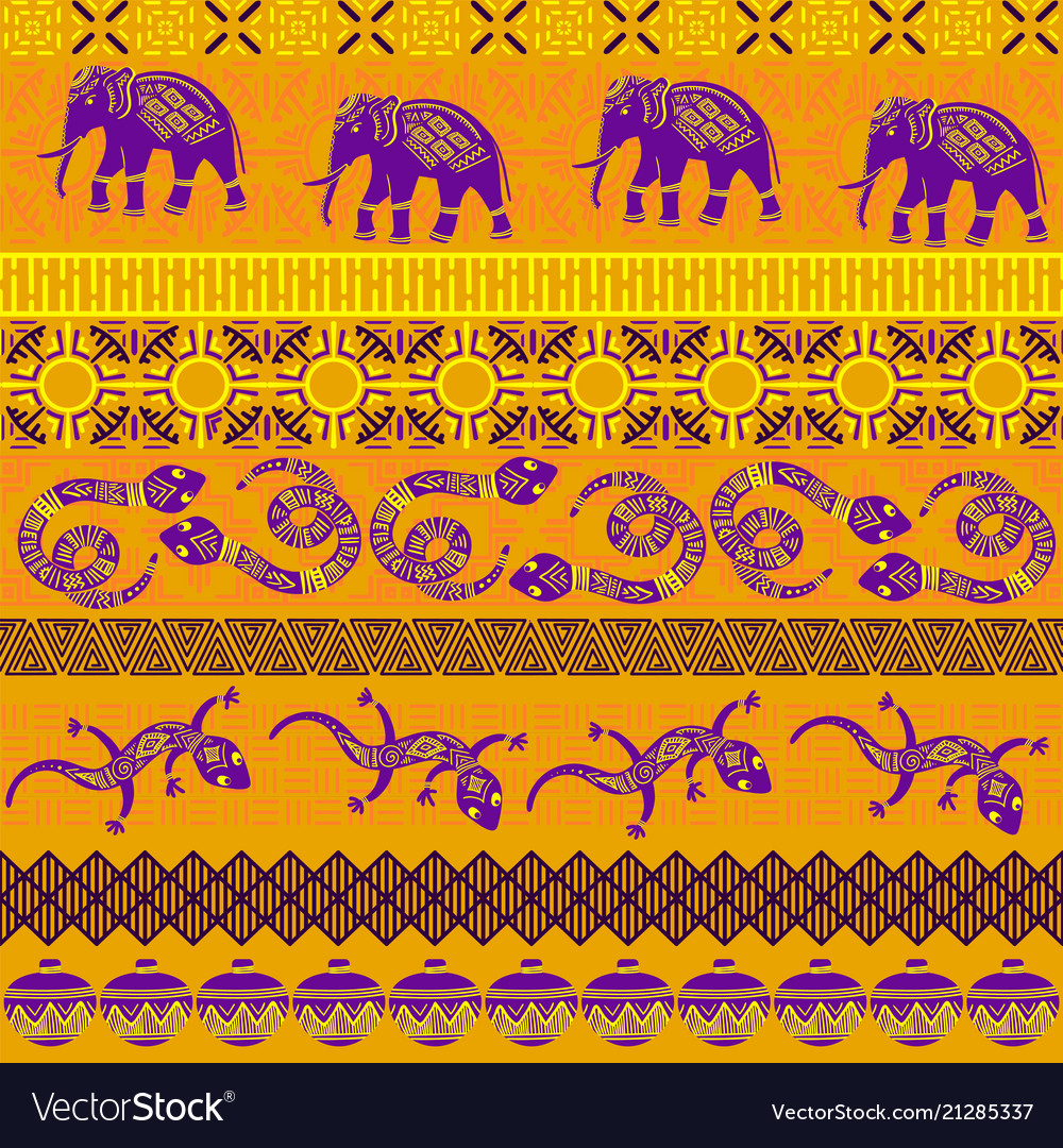Tribal ethnic seamless pattern