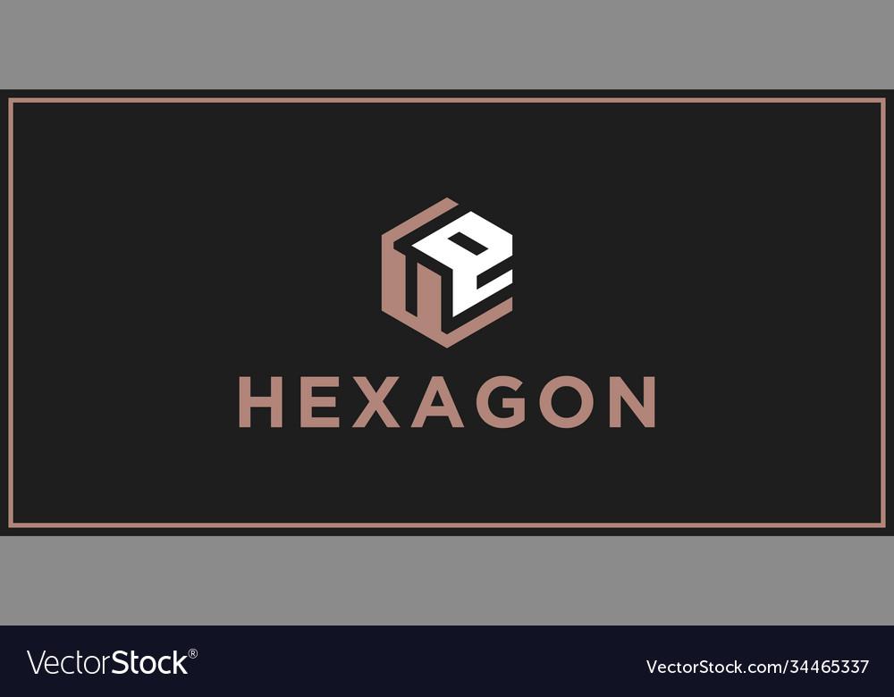 Ue hexagon logo design inspiration