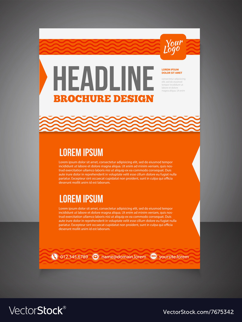 Business Brochure Or Offer Flyer Design Template Vector Image