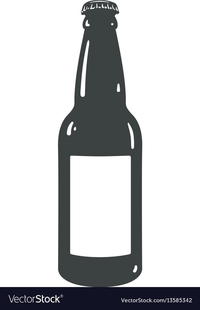 craft beer bottle template vintage brewery bottles