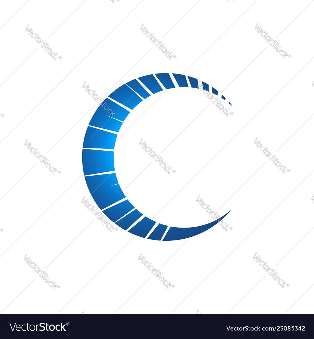 Creative c letter logo russian letter c