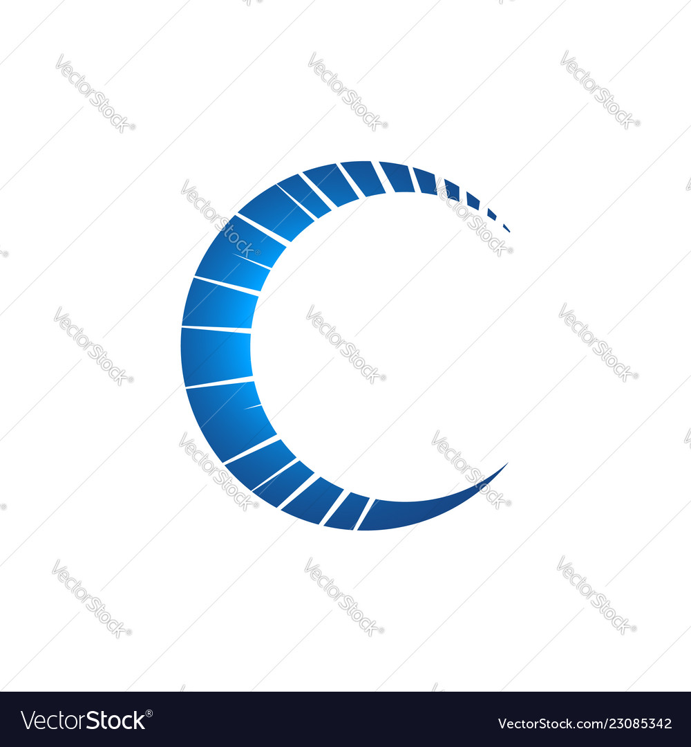 Creative c letter logo russian letter c with