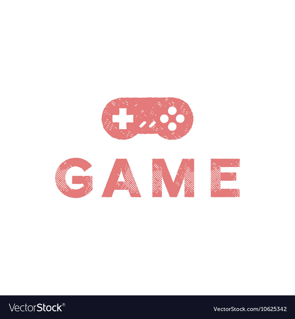 Game joystick of the trend in flat vector image