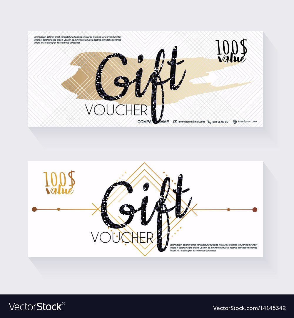 gift voucher template with decorative background vector image