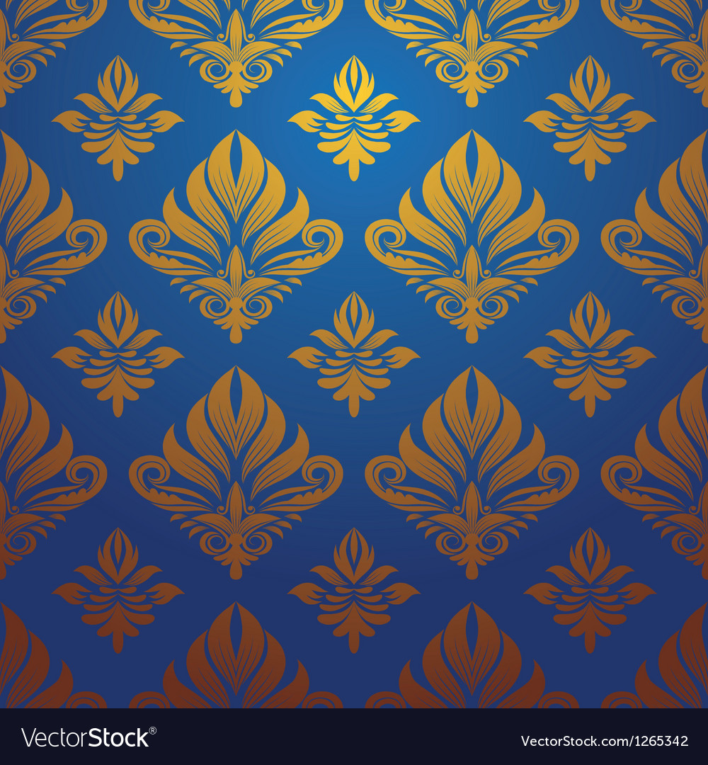 gold blue pattern vector image