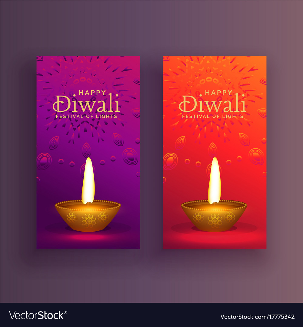 Happy diwali card banner design background vector image m4hsunfo