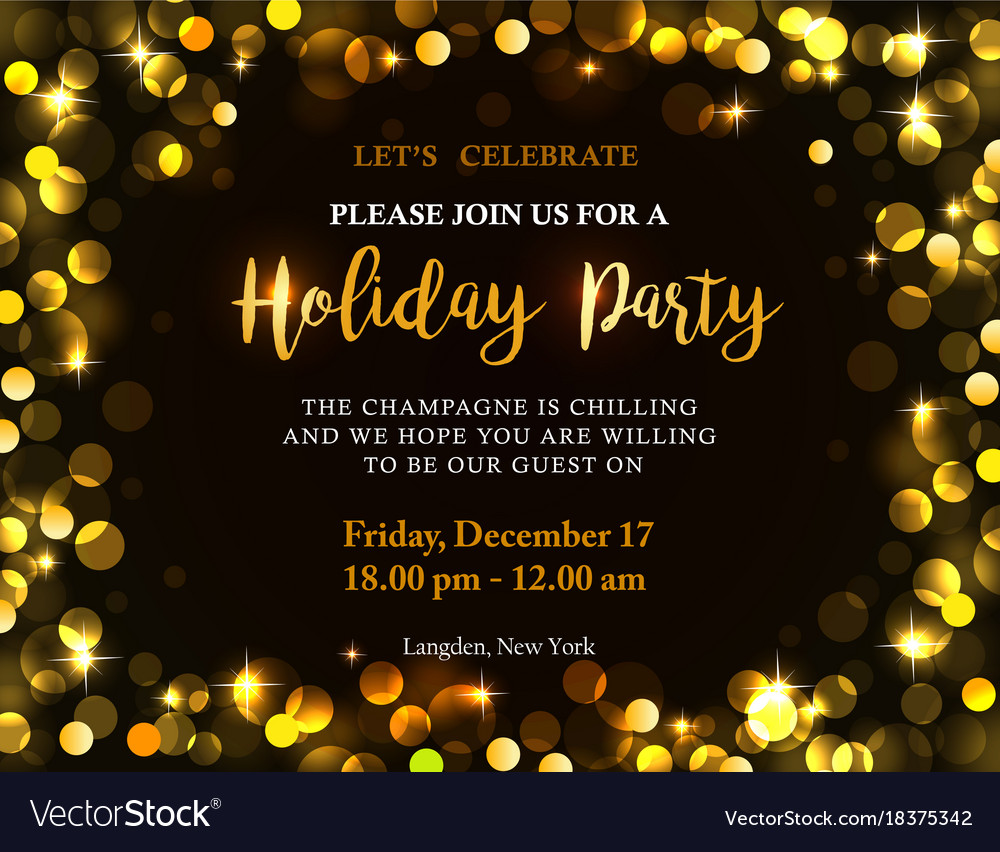Holiday Party Invitation Royalty Free