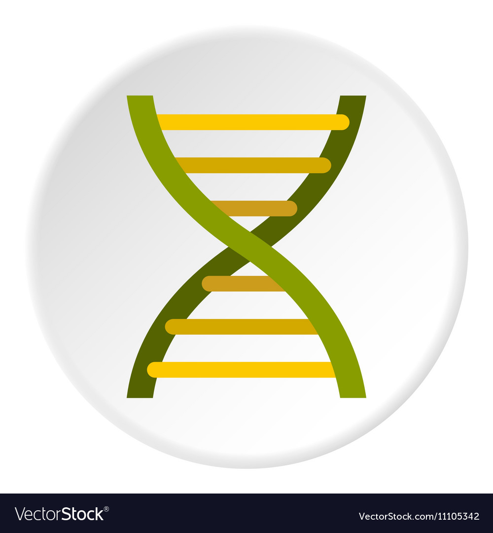 Human dna icon flat style