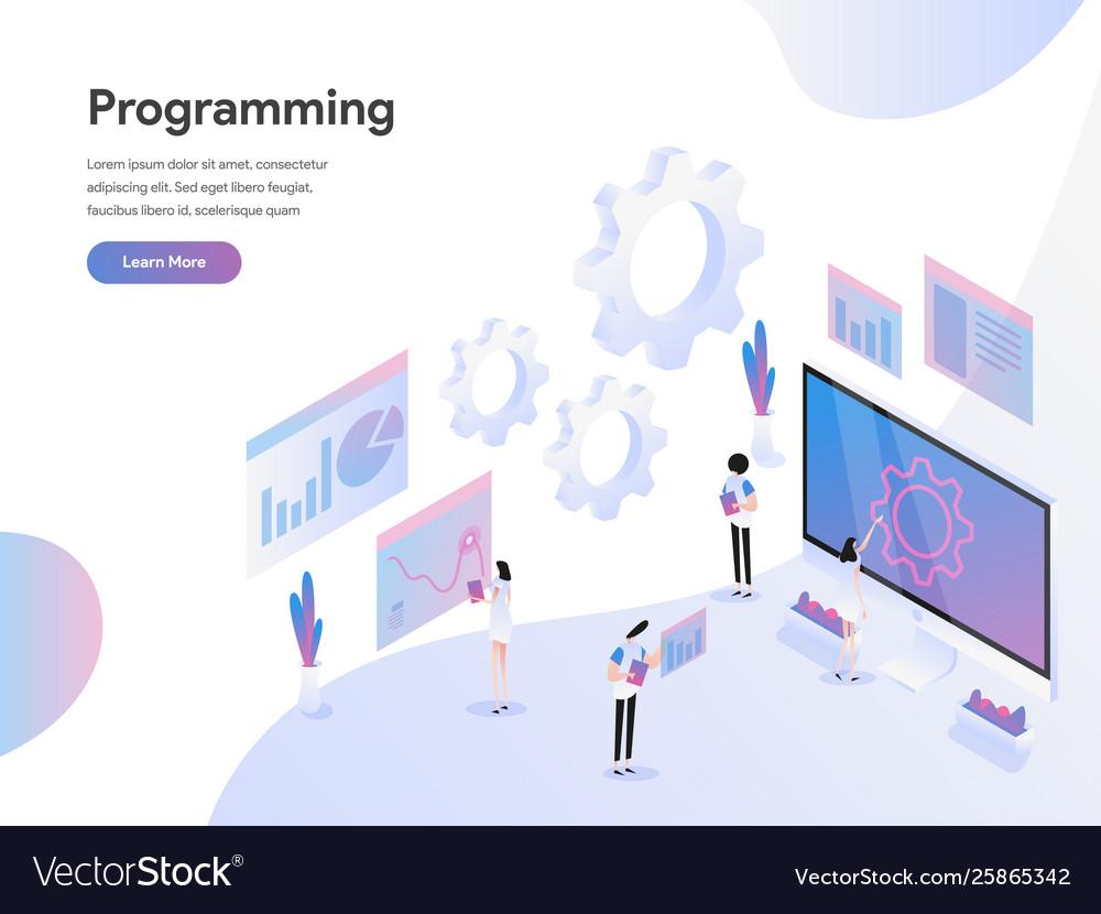 Landing page template computer programming