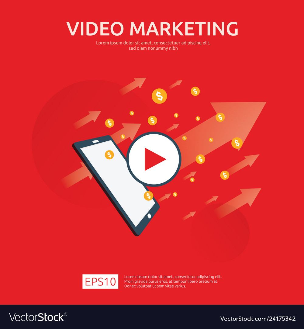 Media marketing concept making money from video