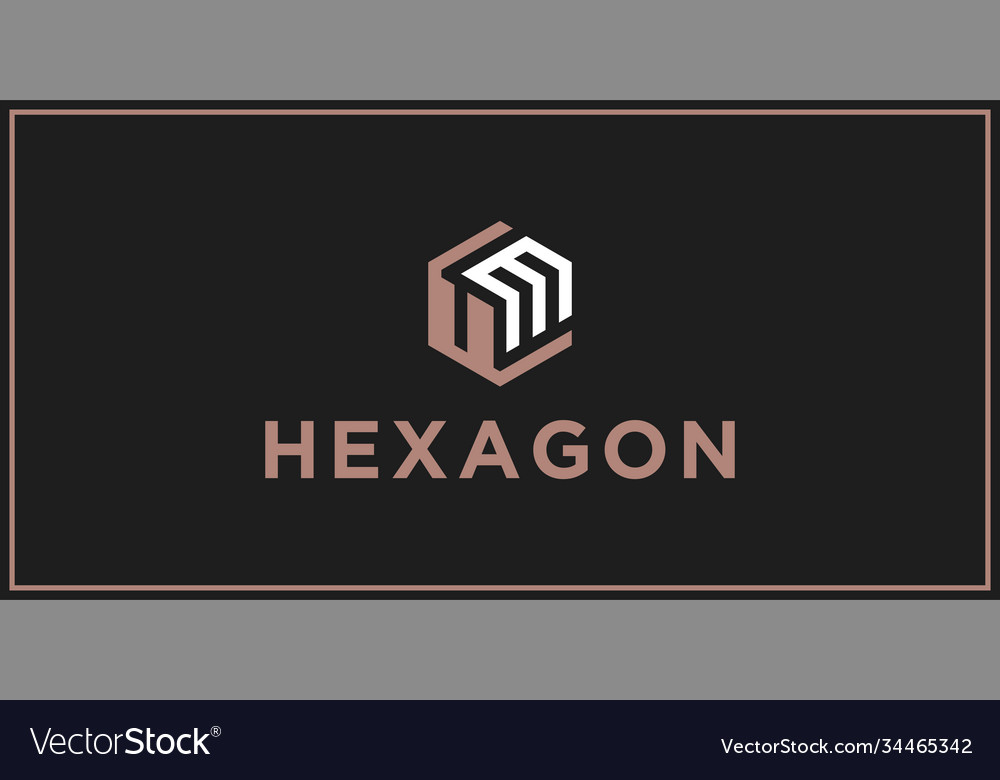 Um hexagon logo design inspiration