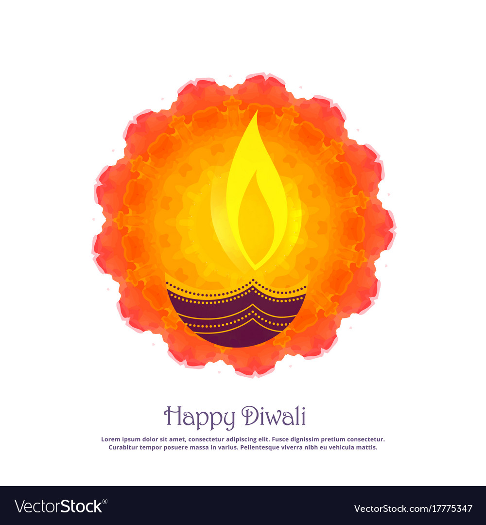 Beautiful diwali festival greeting background