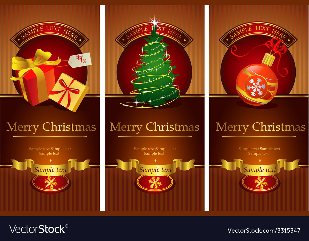 Classic christmas banners