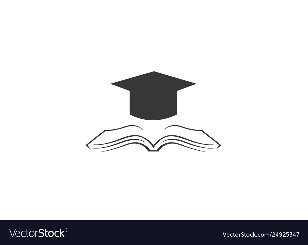 Creative school graduation book logo