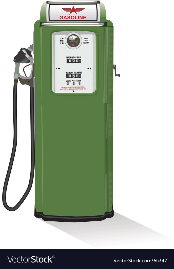 gas pump nozzle vector. Gasoline Pump Vector