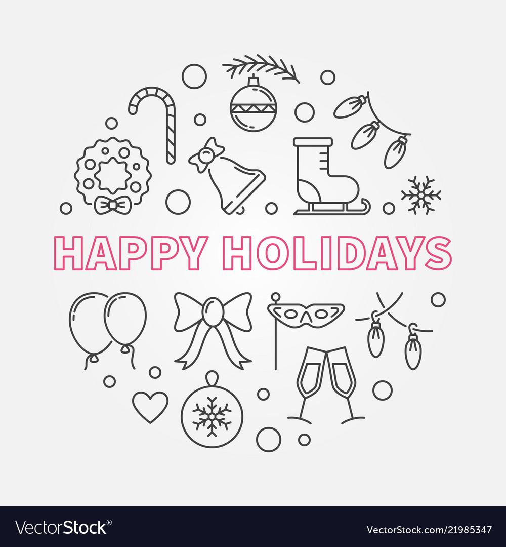 Happy holidays round in thin