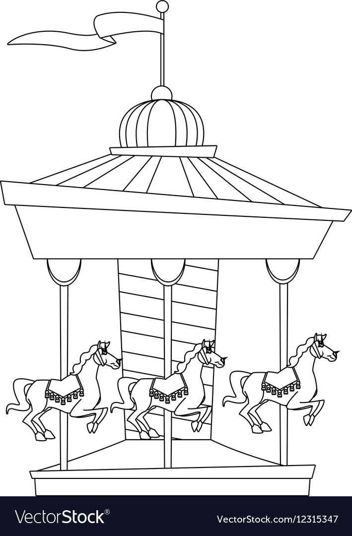 isolated carnival carousel design royalty free vector image