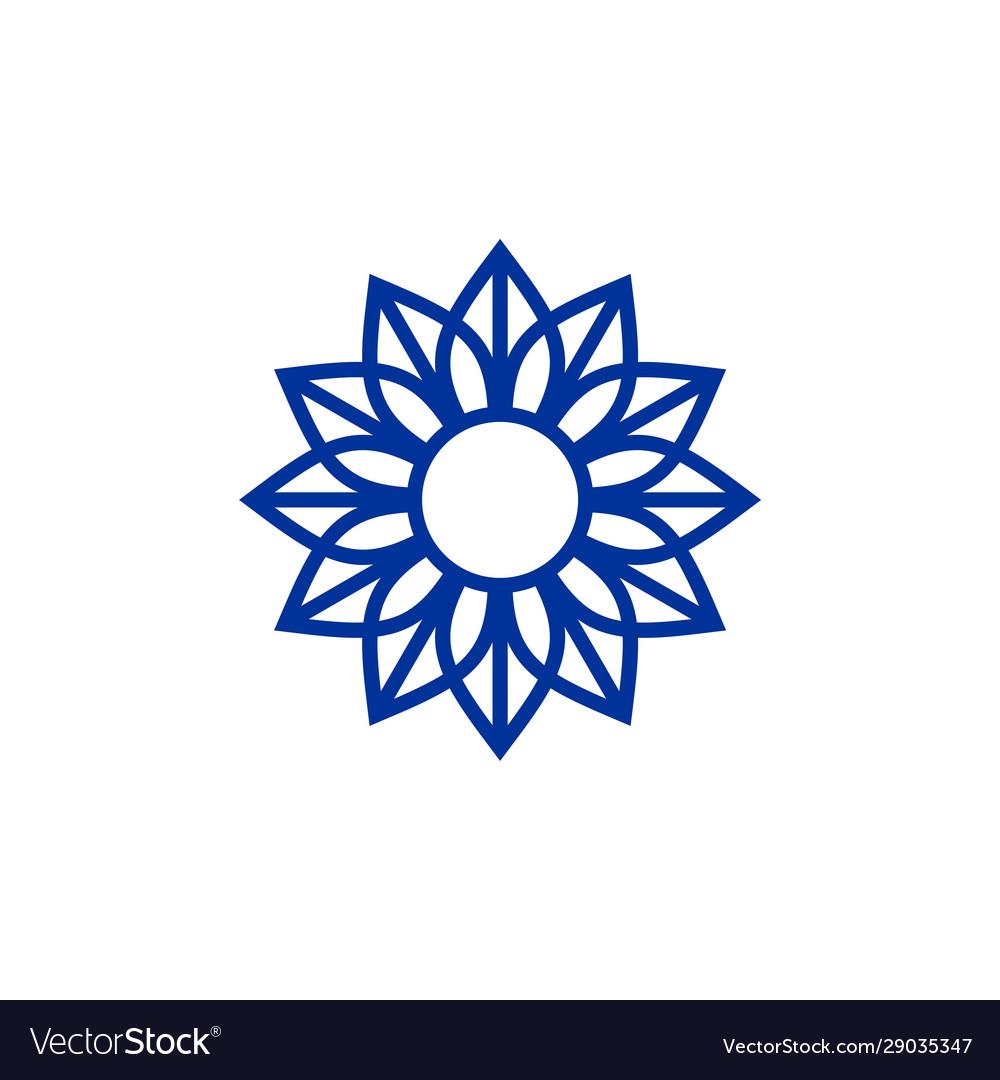 Luxury ornament logo template