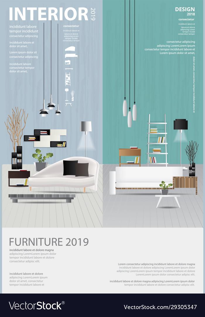 Poster Interior Design Template Royalty Free Vector Image,Modern Tri Fold Brochure Design Ideas
