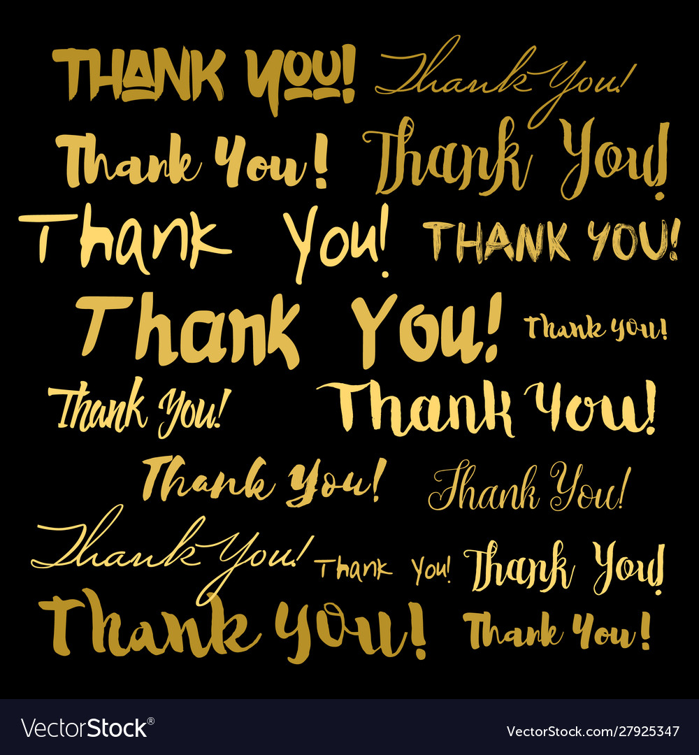 Thank you thanks lettering background
