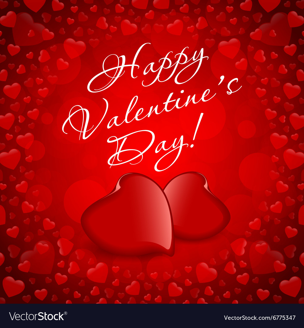 Valentines Day Greeting Card Royalty Free Vector Image