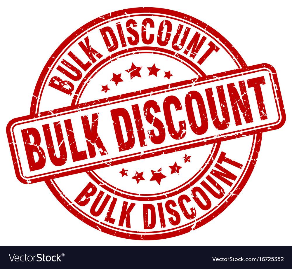 bulk discount stamp royalty free vector image vectorstock