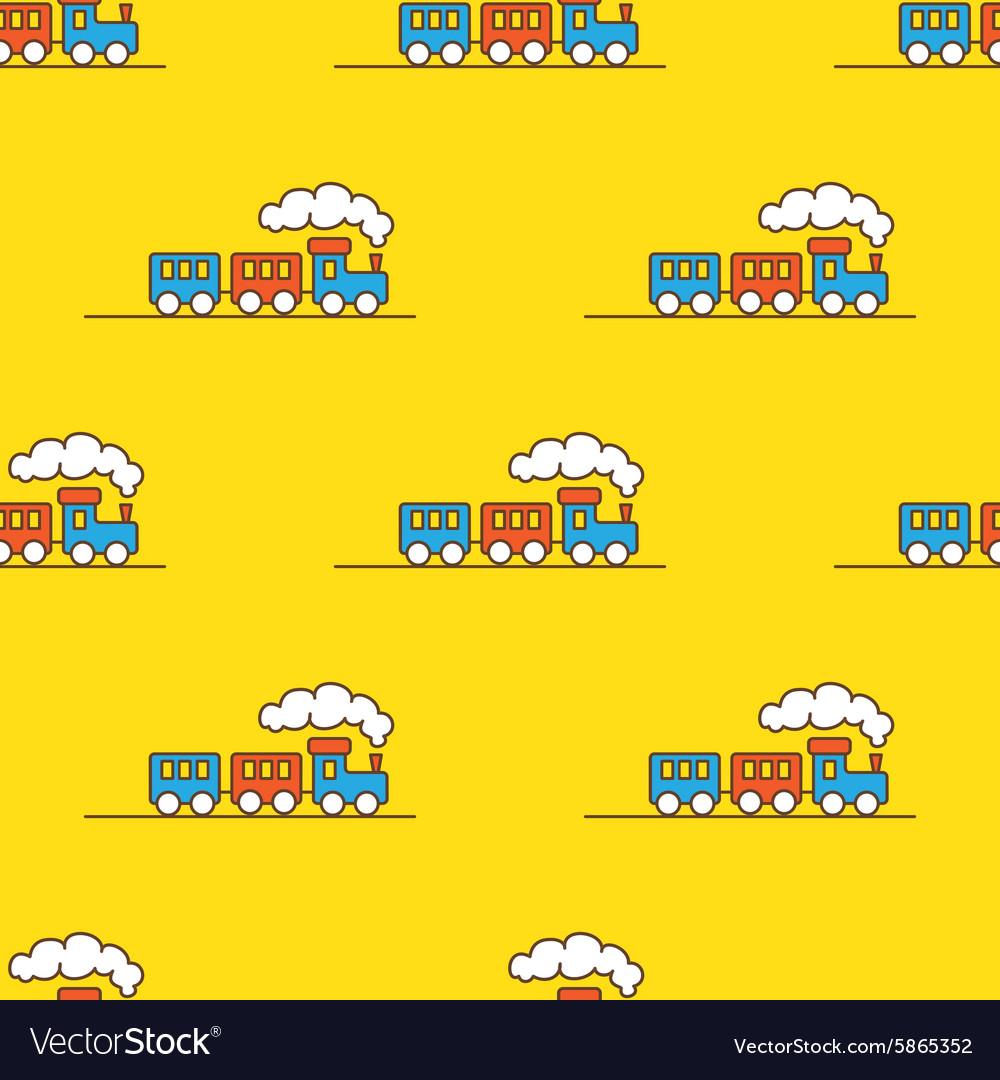 Cartoon toy seamless pattern little steam