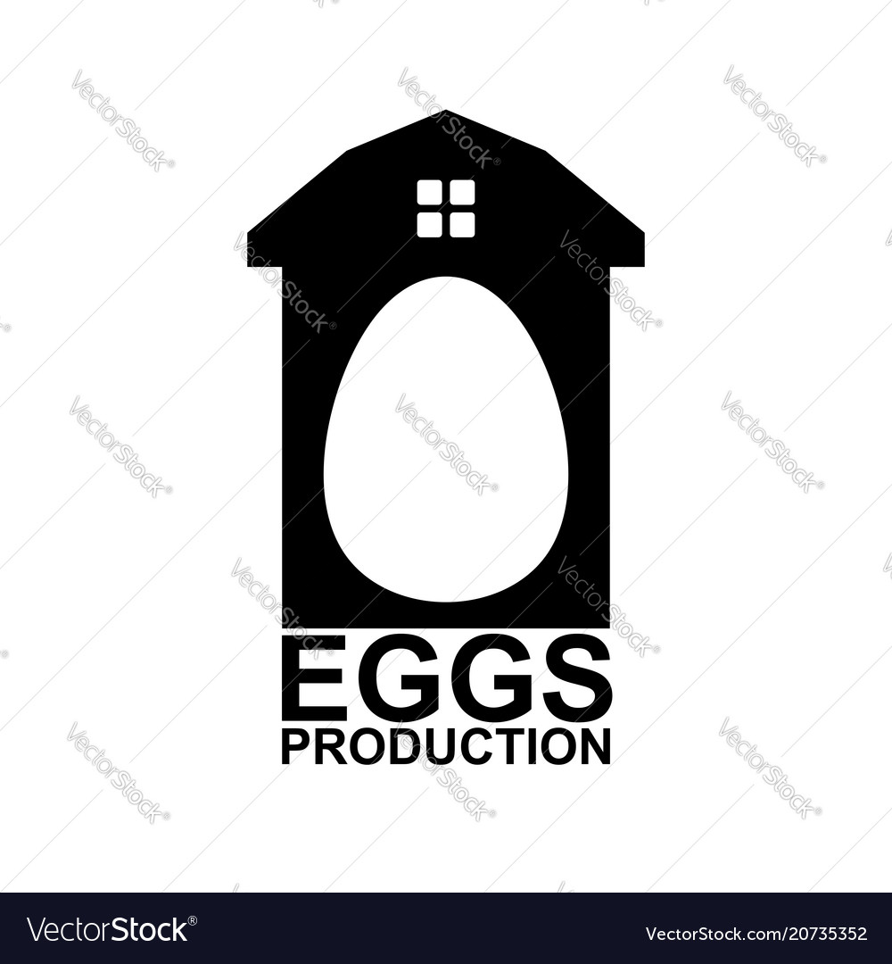 Chicken farm emblem egg farm logo poultry factory