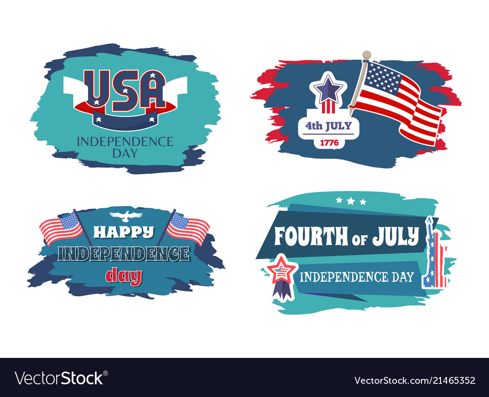 Fourth july happy independence day banners