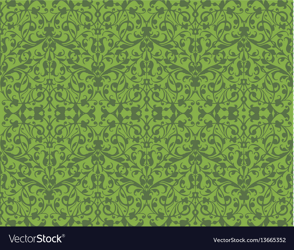Greenery eco swirl seamless pattern texture