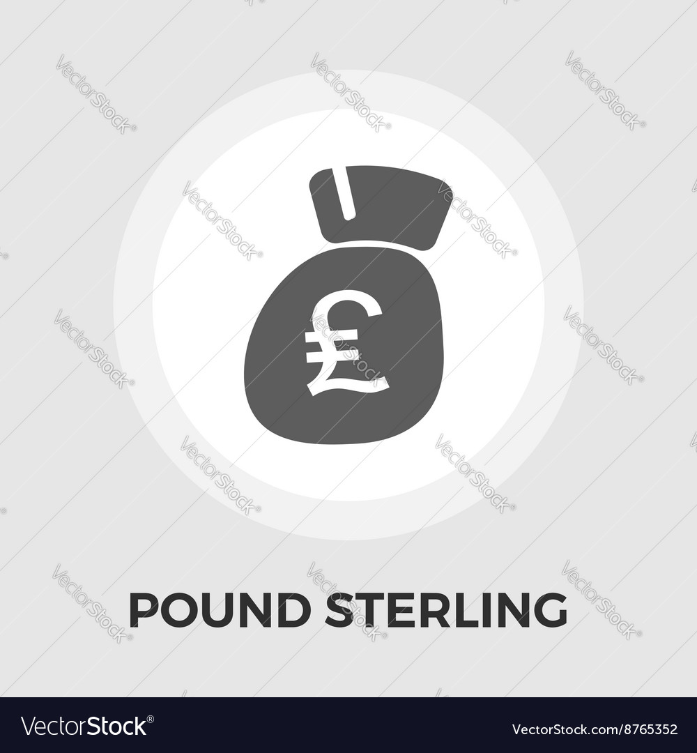 Pound sterling icon flat vector image