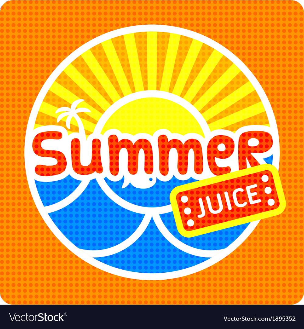 Summer juice label