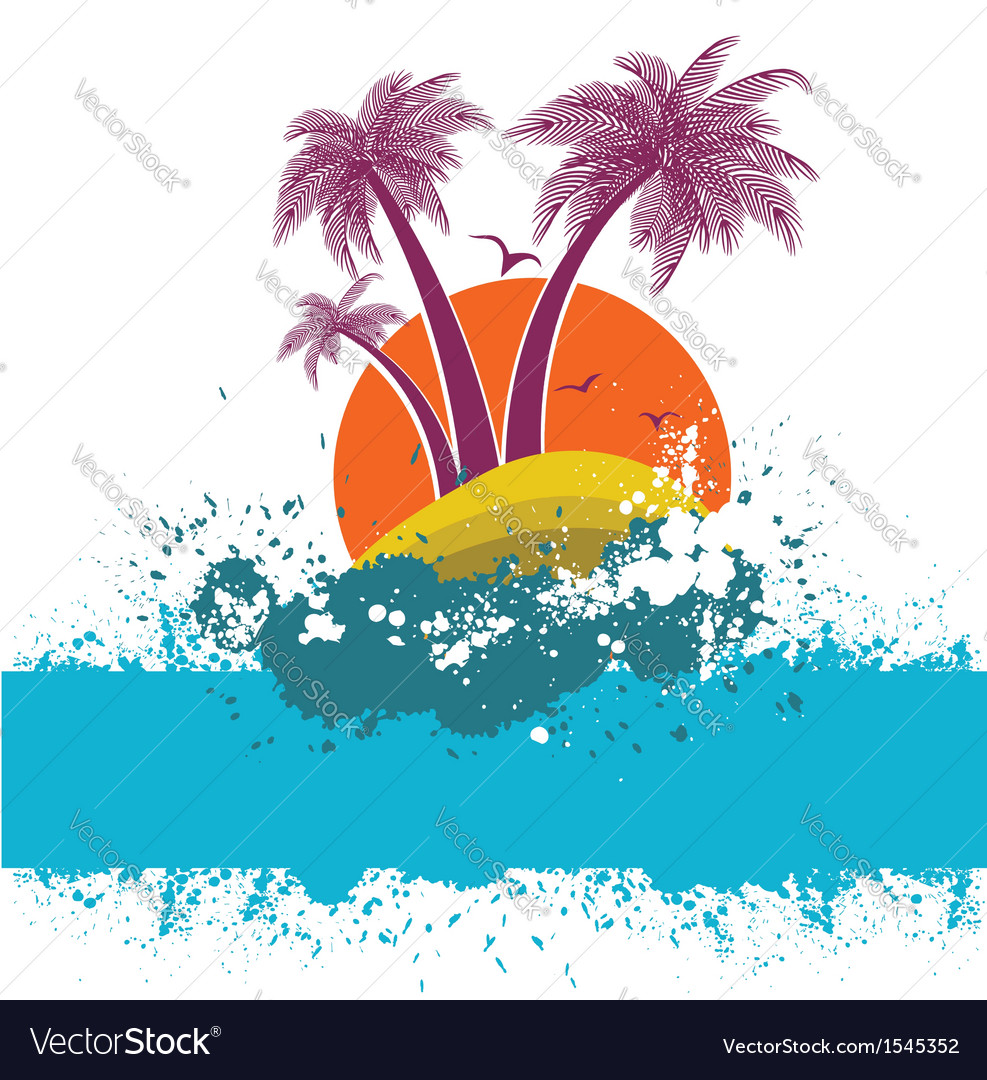 Symbol of tropical island vector image