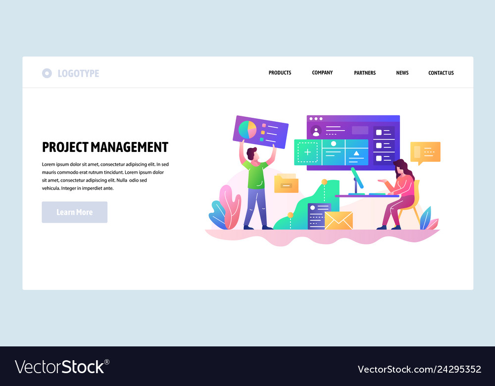 Web site design template project