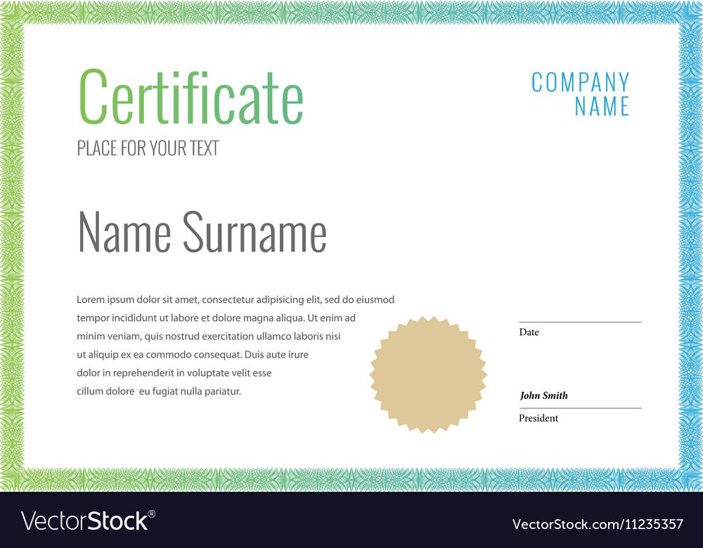 Certificate and diplomas template