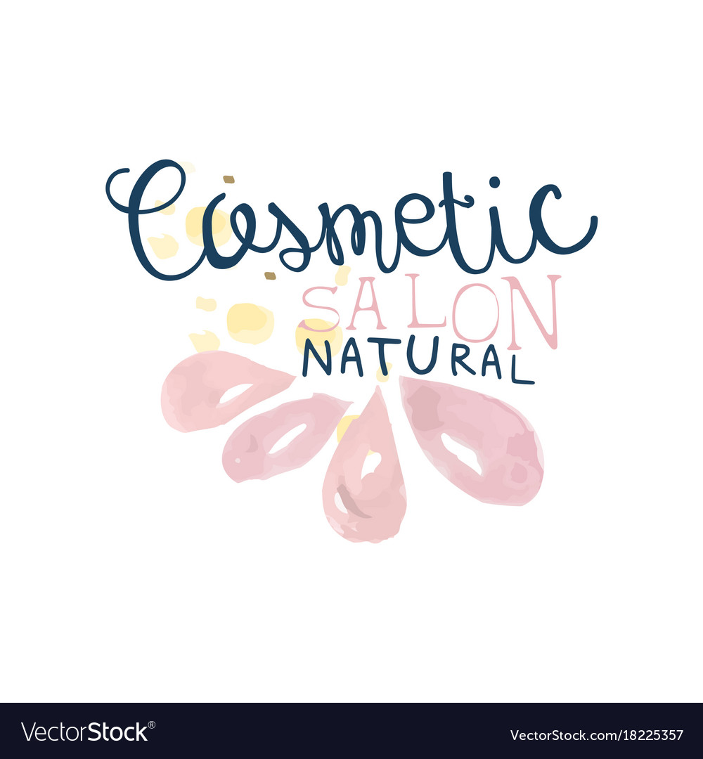 Cosmetic salon logo label for hair or beauty