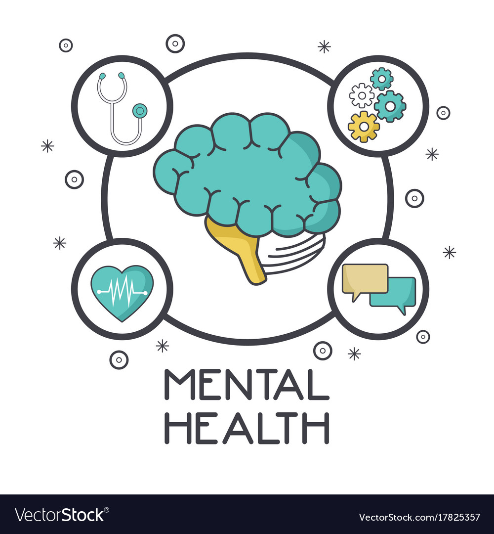 Mental Health Design Royalty Free Vector Image
