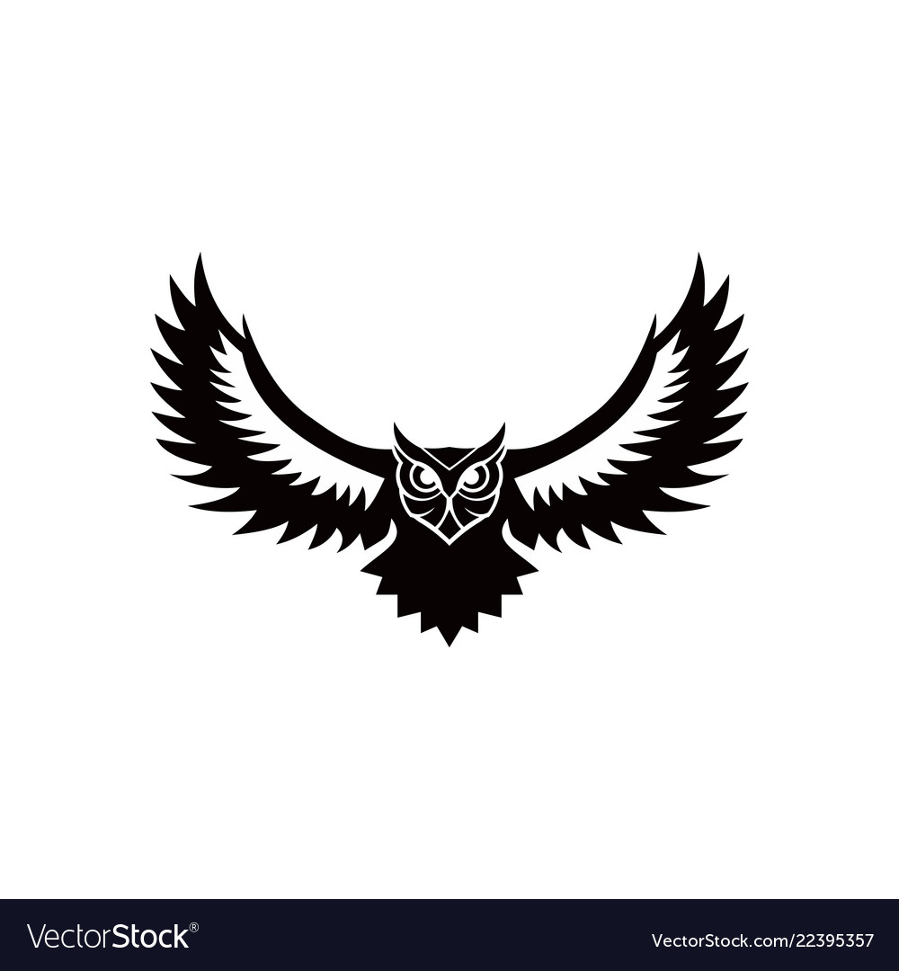 Owl Logo Emblem Design On W Royalty Free Vector Image