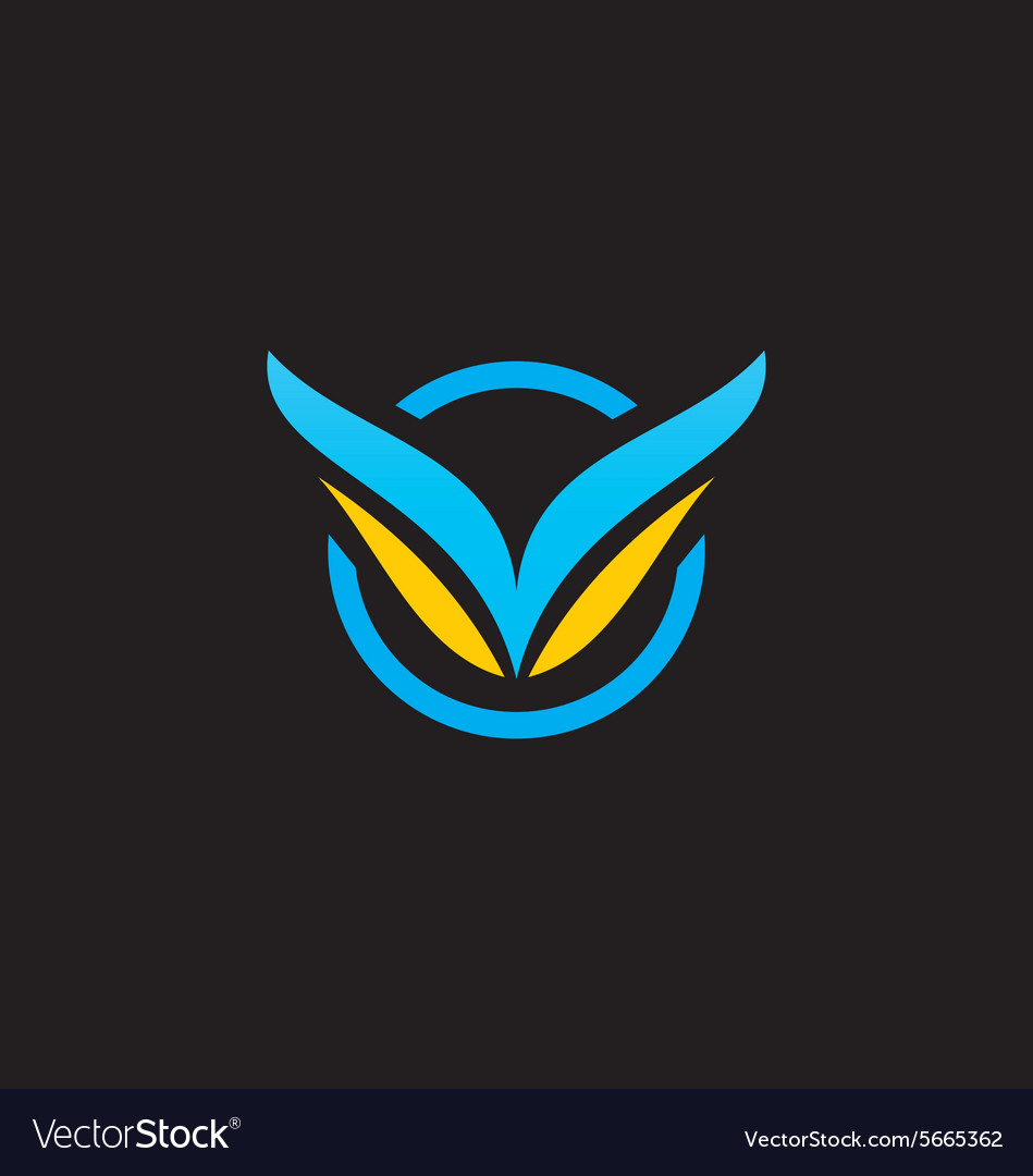 Air fly abstract wing logo