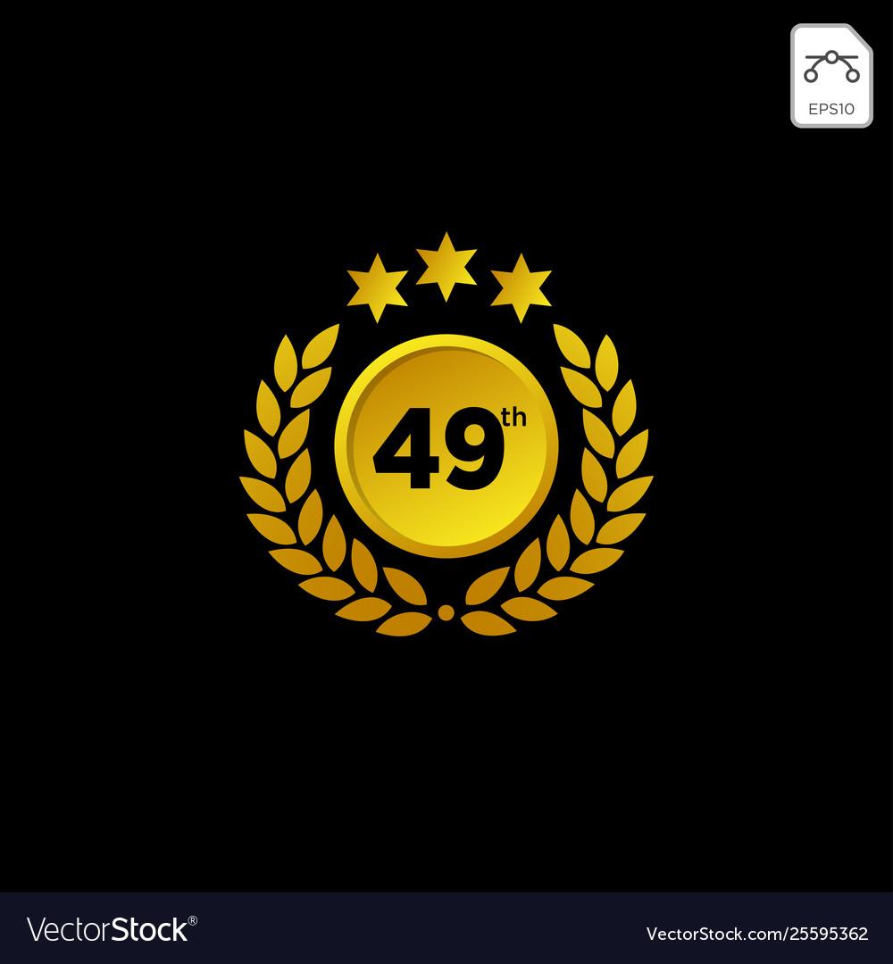Anniversary emblem 1-99 gold luxury decoration